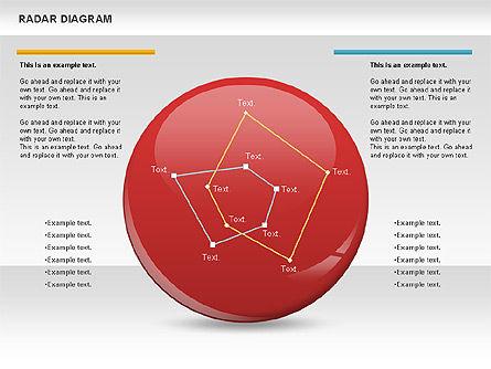 Radar Linear Chart, Slide 2, 00733, Business Models — PoweredTemplate.com