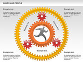 Shapes: Gears and People #00734
