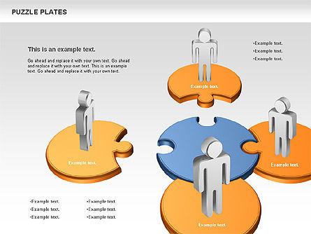 Puzzle Plates, Slide 2, 00737, Puzzle Diagrams — PoweredTemplate.com