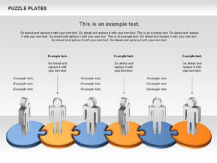 Puzzle Plates, Slide 3, 00737, Puzzle Diagrams — PoweredTemplate.com