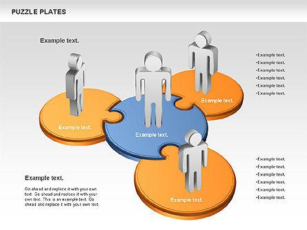 Puzzle Plates, Slide 4, 00737, Puzzle Diagrams — PoweredTemplate.com