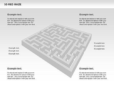 3D Maze, Slide 2, 00738, Business Models — PoweredTemplate.com