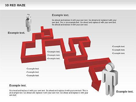 3D Maze, Slide 3, 00738, Business Models — PoweredTemplate.com