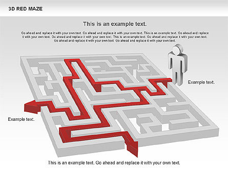 3D Maze, Slide 4, 00738, Business Models — PoweredTemplate.com