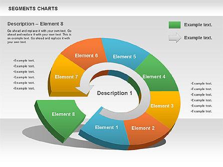 Segments Chart, Slide 11, 00739, Pie Charts — PoweredTemplate.com