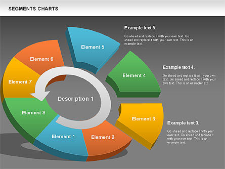 Segments Chart, Slide 13, 00739, Pie Charts — PoweredTemplate.com