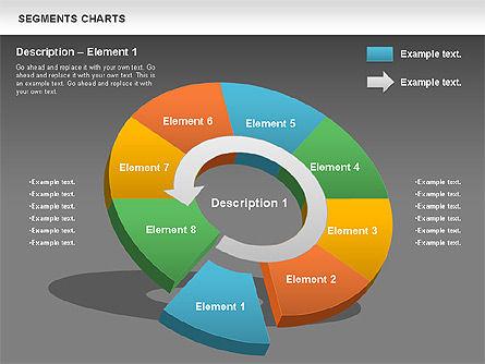 Segments Chart, Slide 15, 00739, Pie Charts — PoweredTemplate.com