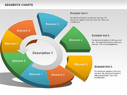 Segments Chart, Slide 2, 00739, Pie Charts — PoweredTemplate.com