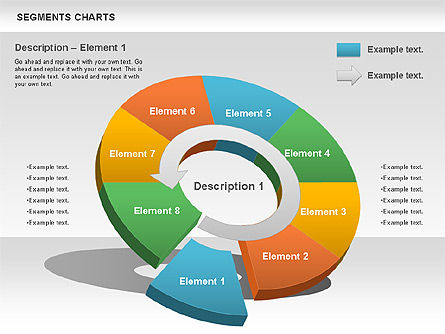 Segments Chart, Slide 4, 00739, Pie Charts — PoweredTemplate.com