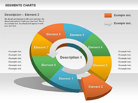 Segments Chart, Slide 5, 00739, Pie Charts — PoweredTemplate.com