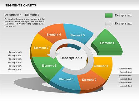 Segments Chart, Slide 7, 00739, Pie Charts — PoweredTemplate.com