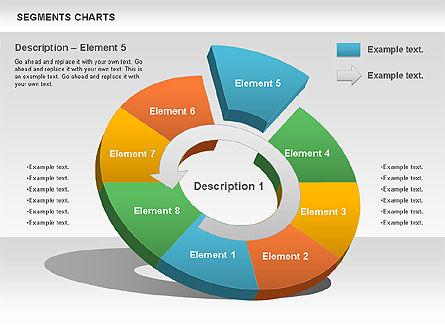 Segments Chart, Slide 8, 00739, Pie Charts — PoweredTemplate.com