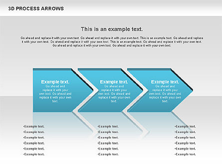 3D Process Arrows, Slide 2, 00740, Process Diagrams — PoweredTemplate.com