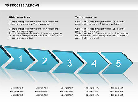 3D Process Arrows, Slide 3, 00740, Process Diagrams — PoweredTemplate.com
