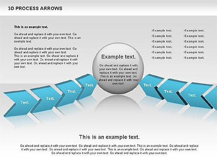3D Process Arrows, Slide 4, 00740, Process Diagrams — PoweredTemplate.com