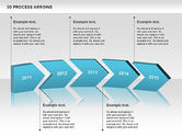 Process Diagrams: 3D Process Arrows #00740