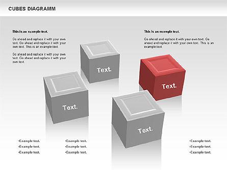 Cubes Diagram, 00742, Shapes — PoweredTemplate.com