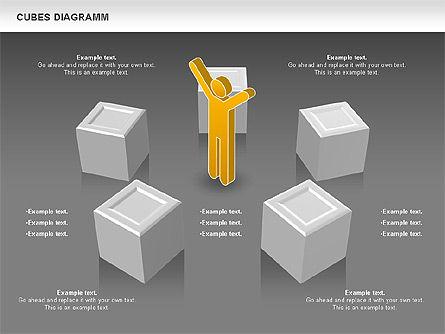Cubes Diagram, Slide 11, 00742, Shapes — PoweredTemplate.com
