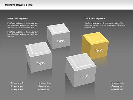 Cubes Diagram, Slide 12, 00742, Shapes — PoweredTemplate.com