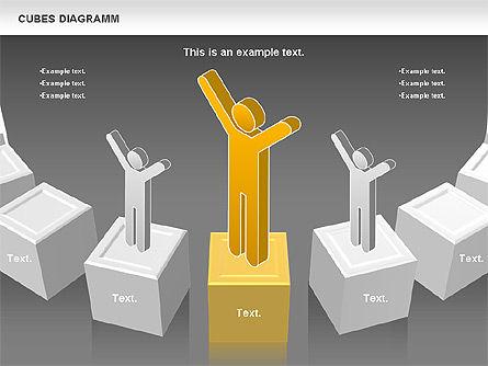 Cubes Diagram, Slide 15, 00742, Shapes — PoweredTemplate.com