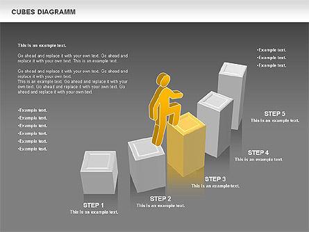 Cubes Diagram, Slide 16, 00742, Shapes — PoweredTemplate.com