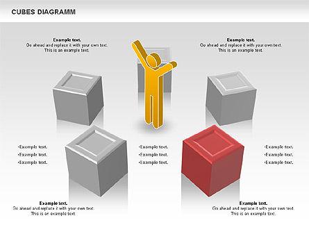 Cubes Diagram, Slide 2, 00742, Shapes — PoweredTemplate.com