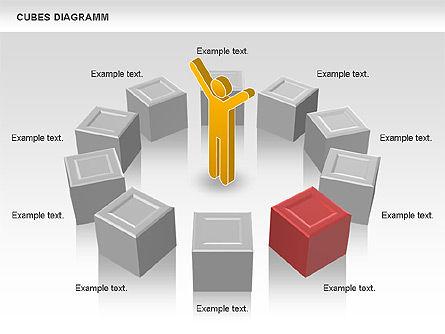 Cubes Diagram, Slide 3, 00742, Shapes — PoweredTemplate.com