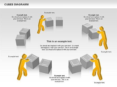 Cubes Diagram, Slide 6, 00742, Shapes — PoweredTemplate.com