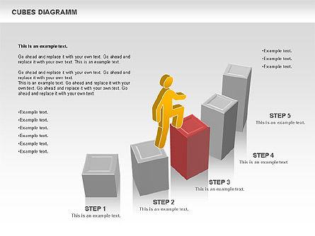 Cubes Diagram, Slide 7, 00742, Shapes — PoweredTemplate.com