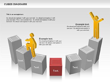 Cubes Diagram, Slide 8, 00742, Shapes — PoweredTemplate.com
