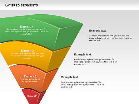 Layered Segments, Slide 10, 00744, Business Models — PoweredTemplate.com