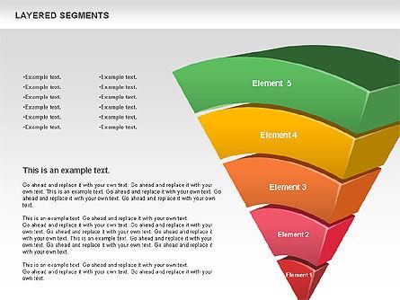 Layered Segments, Slide 11, 00744, Business Models — PoweredTemplate.com