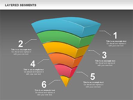 Layered Segments, Slide 13, 00744, Business Models — PoweredTemplate.com