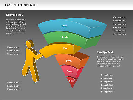 Layered Segments, Slide 14, 00744, Business Models — PoweredTemplate.com