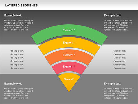 Layered Segments, Slide 15, 00744, Business Models — PoweredTemplate.com