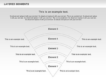 Layered Segments, Slide 3, 00744, Business Models — PoweredTemplate.com