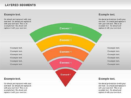 Layered Segments, Slide 5, 00744, Business Models — PoweredTemplate.com