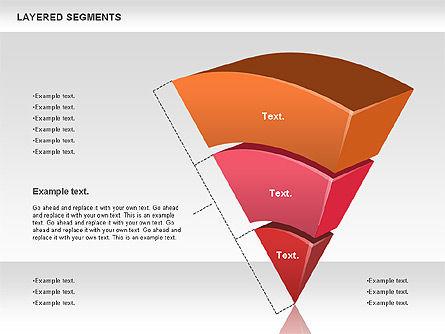 Layered Segments, Slide 9, 00744, Business Models — PoweredTemplate.com