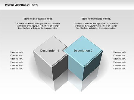 Business Models: Overlapping Cubes #00746