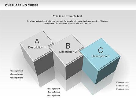 Overlapping Cubes, Slide 2, 00746, Business Models — PoweredTemplate.com