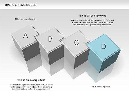 Overlapping Cubes, Slide 3, 00746, Business Models — PoweredTemplate.com