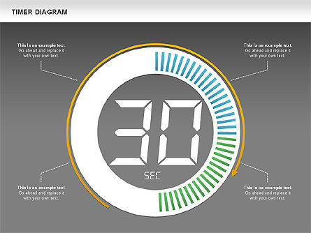 Digital Timer Diagram, Slide 12, 00747, Timelines & Calendars — PoweredTemplate.com