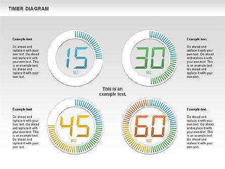 Digital Timer Diagram, Slide 5, 00747, Timelines & Calendars — PoweredTemplate.com