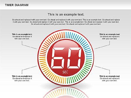 Digital Timer Diagram, Slide 6, 00747, Timelines & Calendars — PoweredTemplate.com