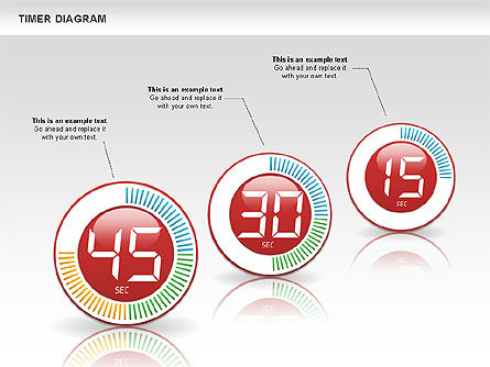 Digital Timer Diagram, Slide 8, 00747, Timelines & Calendars — PoweredTemplate.com