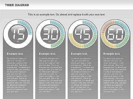 Digital Timer Diagram, Slide 9, 00747, Timelines & Calendars — PoweredTemplate.com
