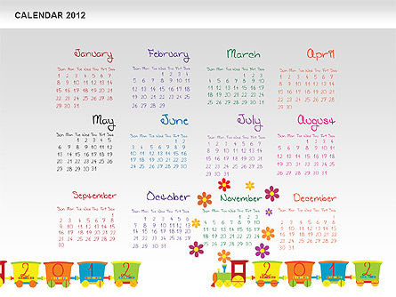 PowerPoint Calendar 2012 Slide 12
