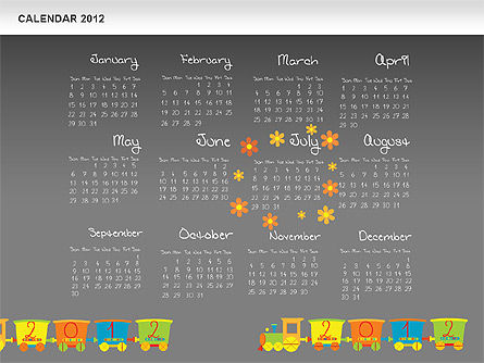 PowerPoint Calendar 2012 Slide 15