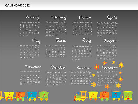 PowerPoint Calendar 2012 Slide 16