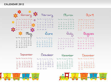 PowerPoint Calendar 2012, Slide 2, 00748, Timelines & Calendars — PoweredTemplate.com
